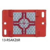 Surveying plaque; red; with reflective target 60 mm; dimension 120 x 75 mm