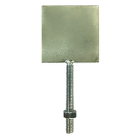 Steel target plate with M8 thread & nut