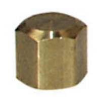 "Protective cap nut for pillar plates,  5/8"" female thread, brass"