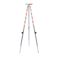Telescopic ranging pole support; leg length 95-126 cm; leg-U21/15 mm