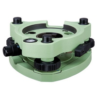 High precision tribrach with optical plummet, green