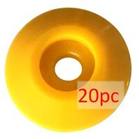 Nail Washer, ABS Plastic, yellow Ø48mm - 20PC Pack