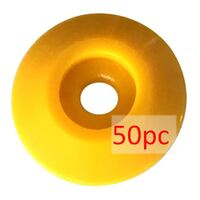 Nail Washer, ABS Plastic, yellow Ø48mm - 50PC Pack