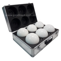 Set of 6 scanning spheres, 145mm, with magnetic base & hard case